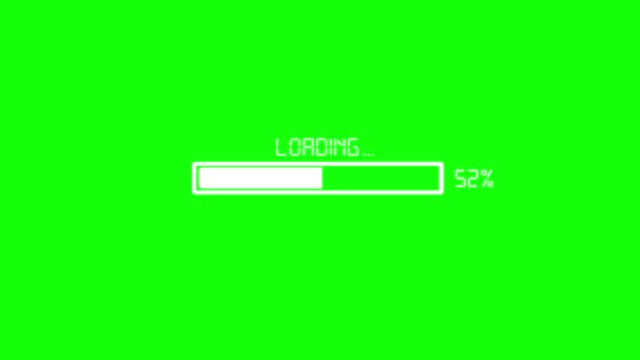 Loading symbol, chroma key. Graph, infographics, Chroma key, loading, upload, download, sign icon, animation web browser stock videos & royalty-free footage