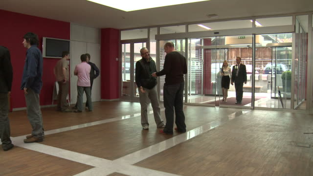 HD DOLLY: Lobby Of An Office Building video