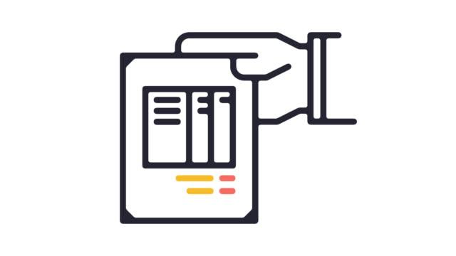アルファ付きロビー料金ライン アイコン アニメーション - アイコン点の映像素材/bロール