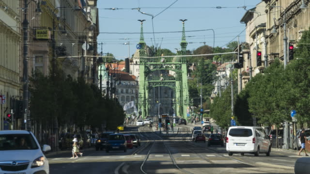 TL: local street and Liberty Bridge in Budapest