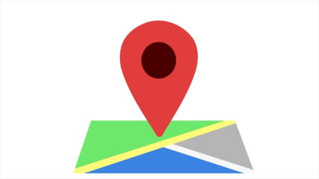 4k location icon moving - loopable - położenie filmów i materiałów b-roll