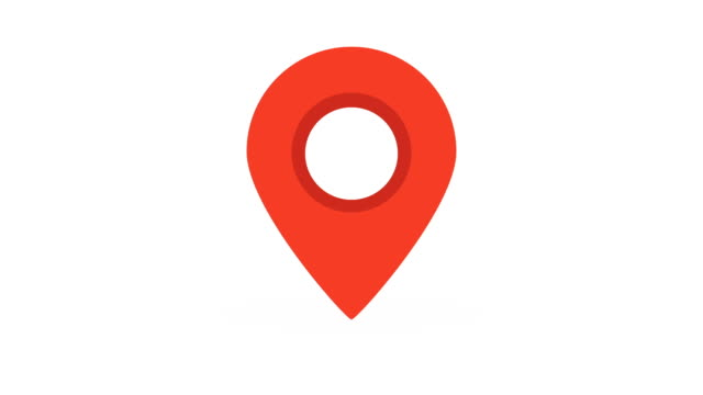 location pin icon pop-up animation.