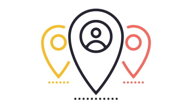 Location Tag Line Icon Animation