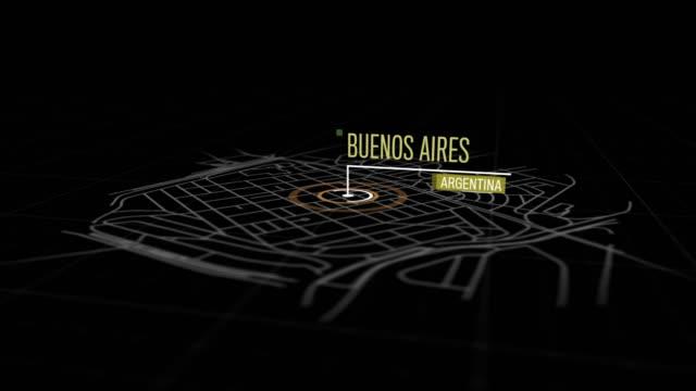 vídeos de stock, filmes e b-roll de locais de buenos aires, argentina - pin