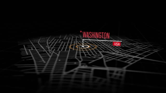 locations washington, usa - aerial map stock videos & royalty-free footage