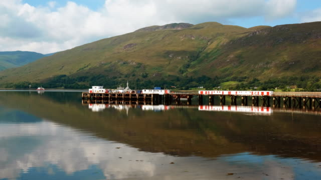 loch linnhe and fort william, scottish highlands, uk - fort william video stock e b–roll