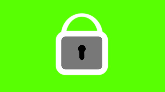 Lock closing animation, security concept green screen loop Lock closing animation, security concept green screen loop padlock stock videos & royalty-free footage