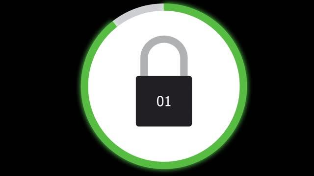 обратный отсчет экрана блокировки - шифрование стоковые видео и кадры b-roll