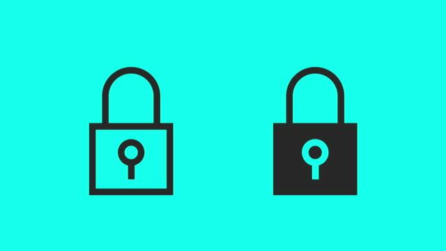 försäkra dig om & lås - vektor animera - lås bildbanksvideor och videomaterial från bakom kulisserna