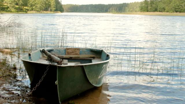 Bидео Locked лодке на озеро