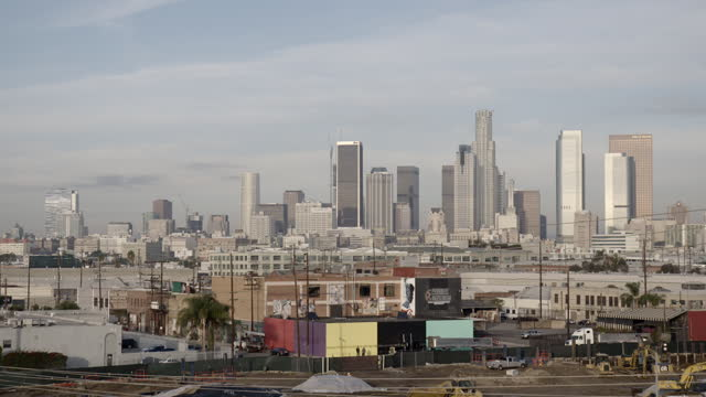 Locked off view of Downtown Los Angeles HD video
