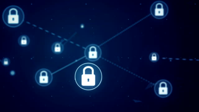 Locked Padlock Network Icon Link Connection Technology Loop Animation 4K Locked Padlock Network Icon Link Connection Technology Loop Animation 4K padlock stock videos & royalty-free footage