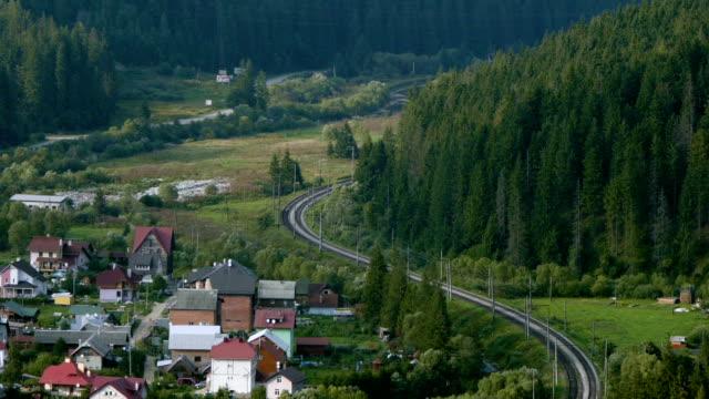 locomotive rides through the forest timelapse - karpaterna tåg bildbanksvideor och videomaterial från bakom kulisserna