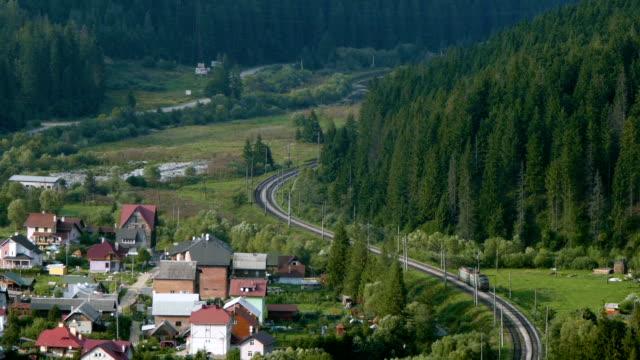 locomotive rides through the forest - karpaterna tåg bildbanksvideor och videomaterial från bakom kulisserna