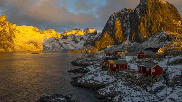 Lofoten fishing village video