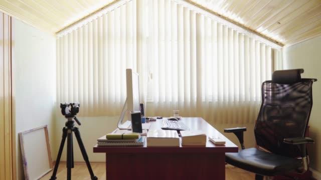 CRANE SHOT: Loft office interior video