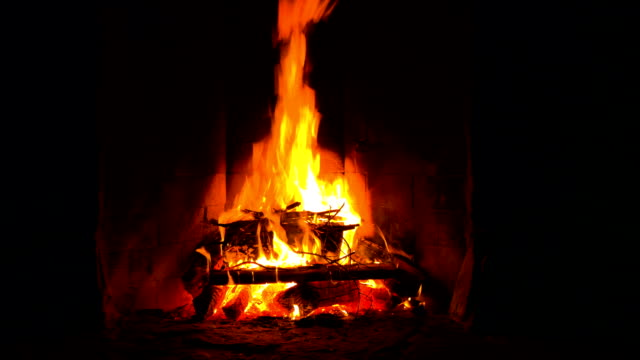 Log Fire video