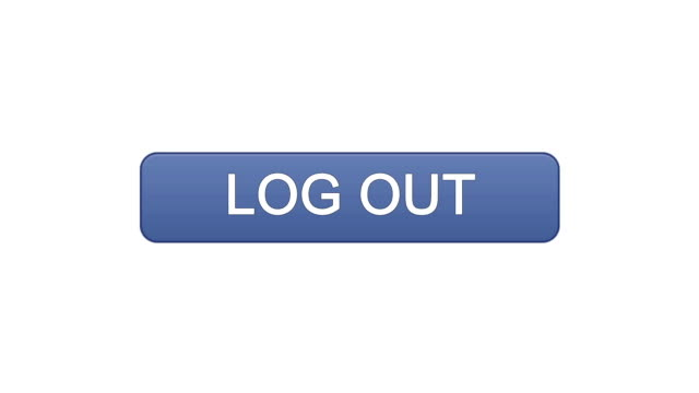 Log out web interface button clicked with mouse cursor, different color choice video
