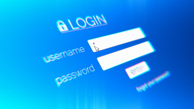 4K Login Page Username and Password password stock videos & royalty-free footage