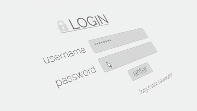 4 k ログインページ - パスワード点の映像素材/bロール