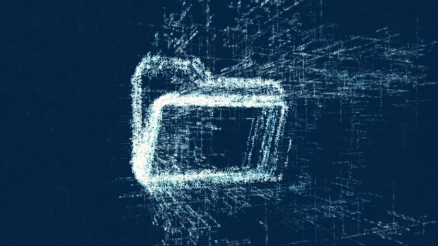 Logo of folder, loop news animation. Intro energetic action of abstract file