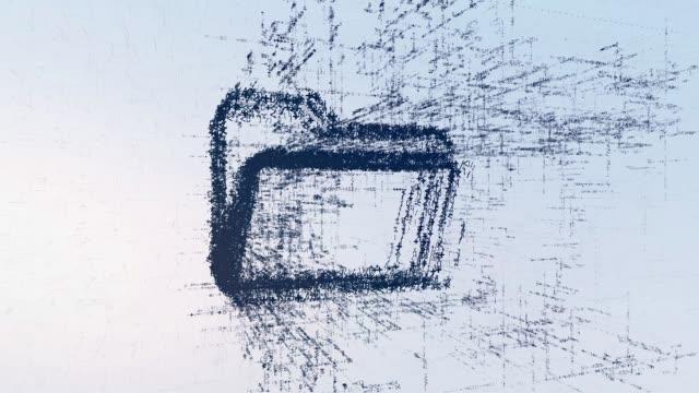 vidéos et rushes de dossier de signe de logo, animation lumineuse nouvelles. fichier résumé intro dans l'espace - book