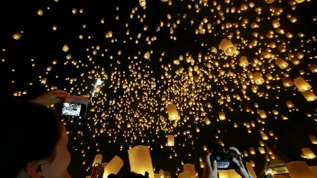 Loi Krathong Festival in Chiang Mai, Thailand video