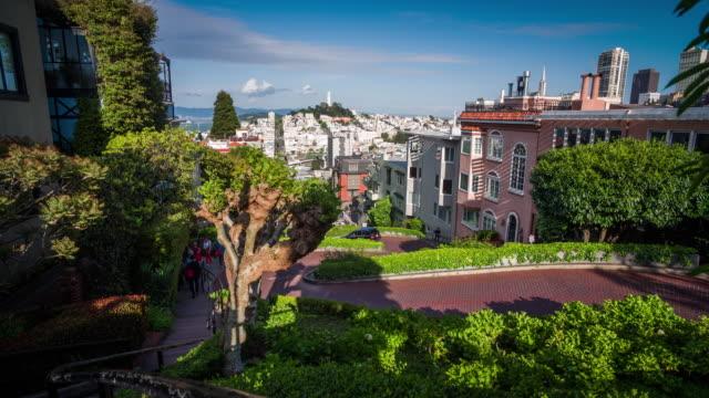 Lombard Street in San Francisco - 4K Cityscapes, Landscapes & Establishers video