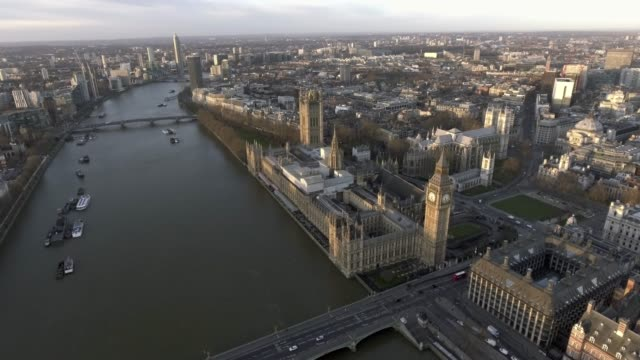 London Aerial Cityscape with Famous Tourism Sights Landmarks video