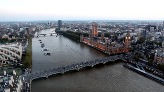 London aerial view video