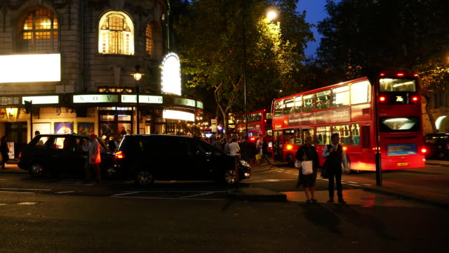 London Aldwych And Novello Theatre At Night (4K/UHD to HD) video