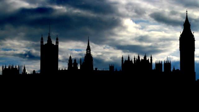UK London Big Ben dramatic skies video