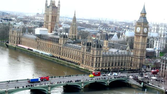 London, Groß Ben, Thamse Fluss – Video