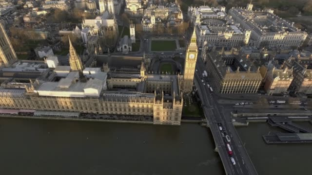 London Bird View of Houses of Parliament and Big Ben video
