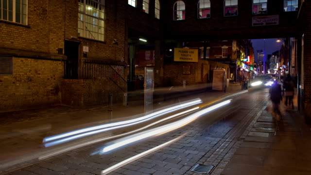 London Brick Lane at night video