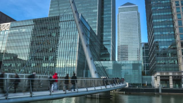 London- Canary Wharf financial district video