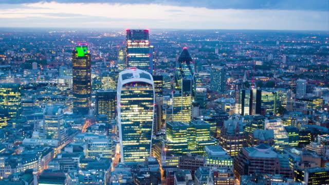 London CBD skyline video