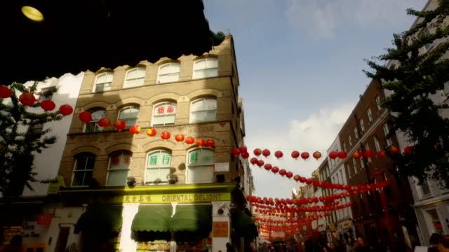 London Chinatown Restaurant Tourist Landmark Winter Sun Autumn Spring Summer video