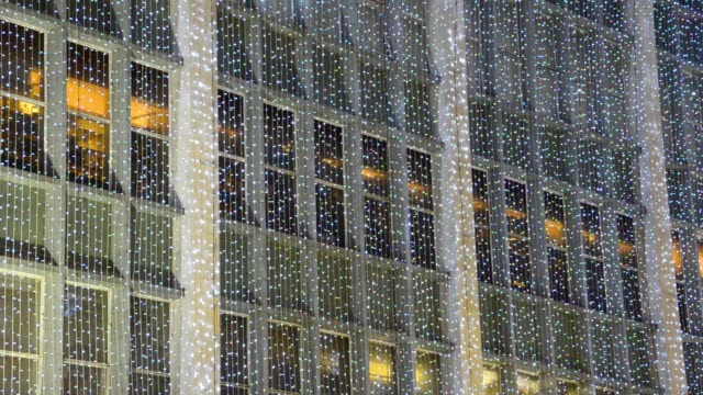 London christmas light decoration at Oxford street. holliday atmosphere video