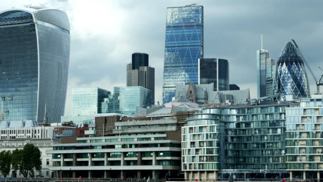 PAN London City Skyscrapers (4K/UHD to HD) video