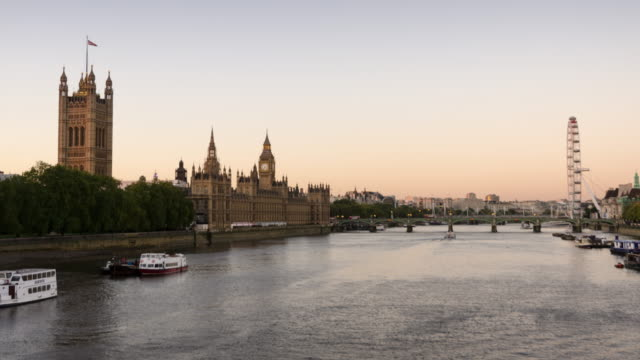 London cityscape day to night time lapse video