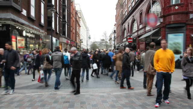 London Crowd Walking Time lapse video