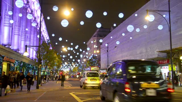 London, England. Oxford Street is a major thoroughfare in the City of Westminster in the West End of London, England. There are 548 shops in Oxford Street and it is Europe's busiest shopping st video
