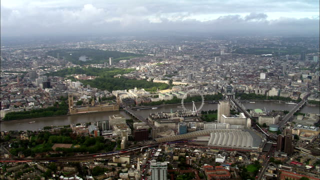 London Eye and Houses of Parliament video