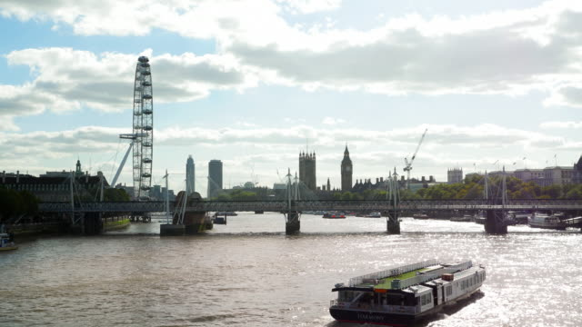 London Eye And Westminster Viewed From The Northeast (UHD) video