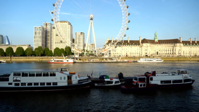London Eye During Daytime From Low Angle - Commercially Usable