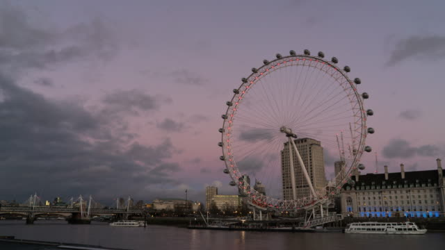 London eye ,Time lapse. London eye ,Time lapse. victorian architecture stock videos & royalty-free footage