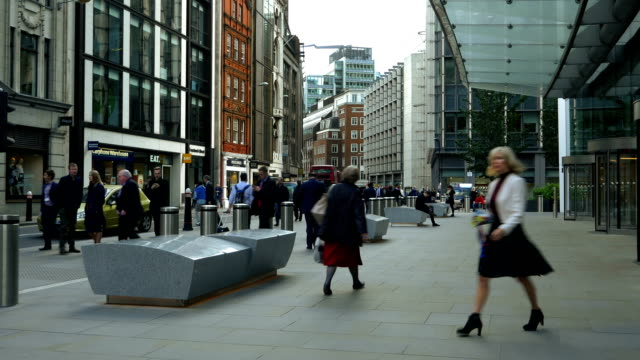 T/L London Fenchurch Street Scene (4K/UHD to HD) video