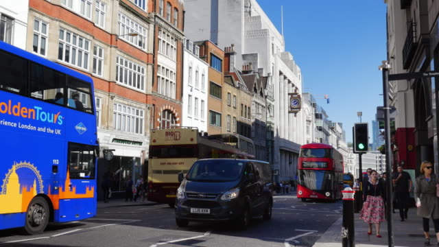 London Fleet Street And Old Daily Telegraph Building (UHD) video