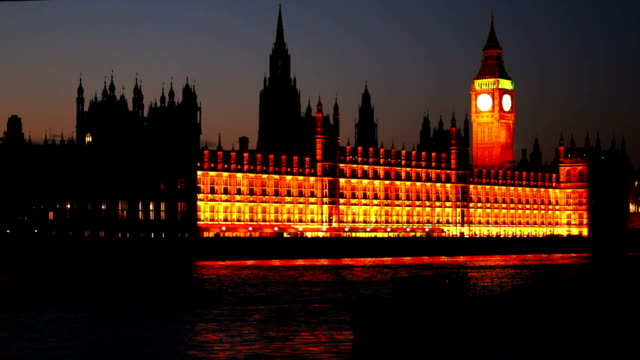 London Houses Of Parliament At Night video